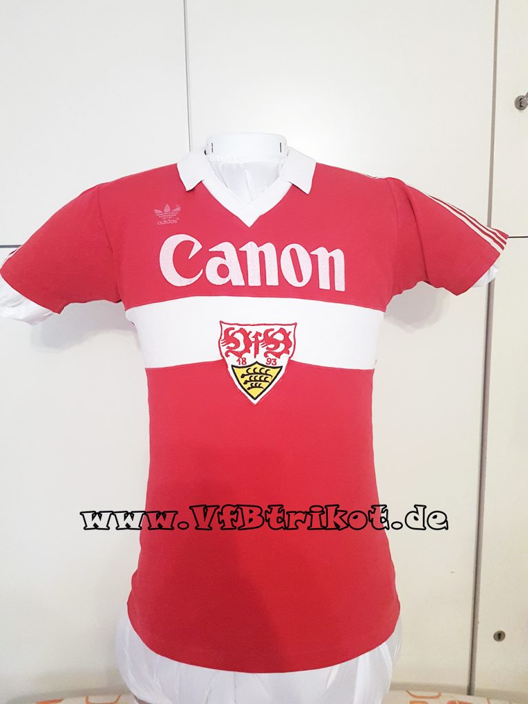1981/82 - Didier Six - Canon - rot - kurzarm