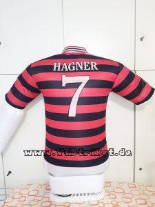 1997/98 - Bundesliga - rot-schwarz gestreift - kurzarm - Matthias Hagner