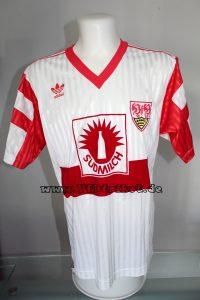 1991/92 - Bundesliga - weiß - kurzarm - mit Adidas Blume - Ludwig Kögl