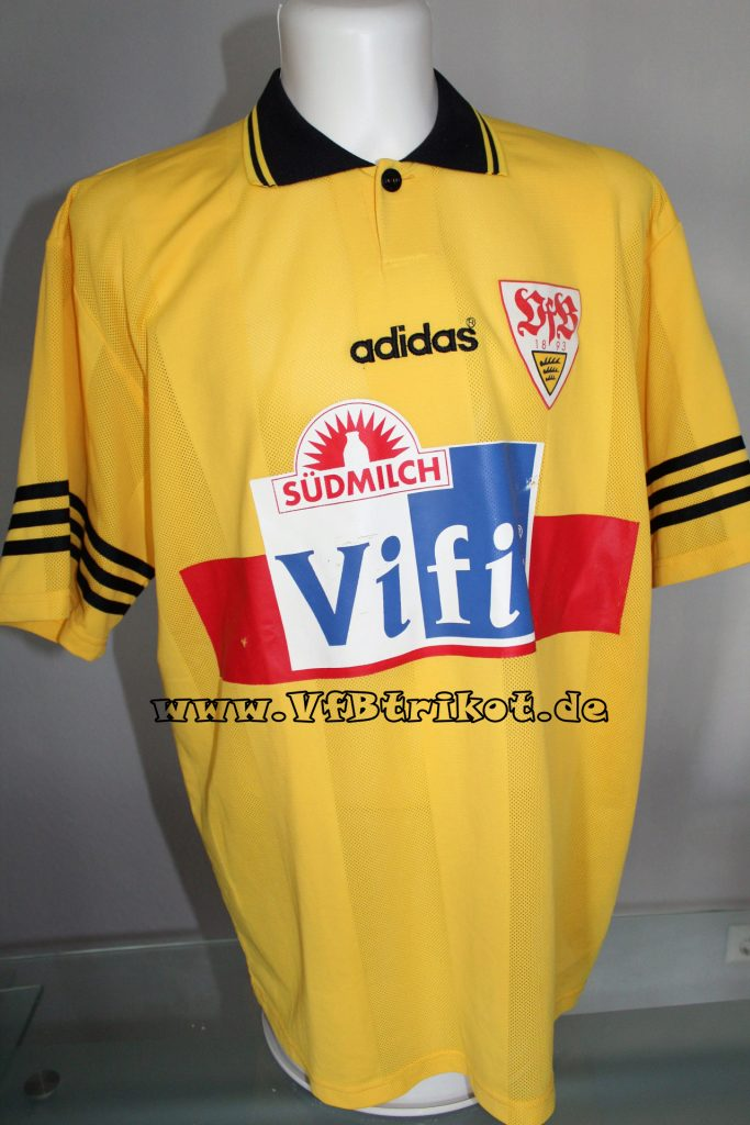 1995 96 bundesliga gelb kurzarm Balakov HSV VfB VfB