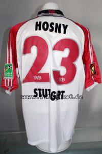 1999/00 - Bundesliga - weiß - kurzarm - Ahmed Salah Hosny - WM 2006 Bewerbung Soderpatch - VfB Stuttgart - Borussia Dortmund