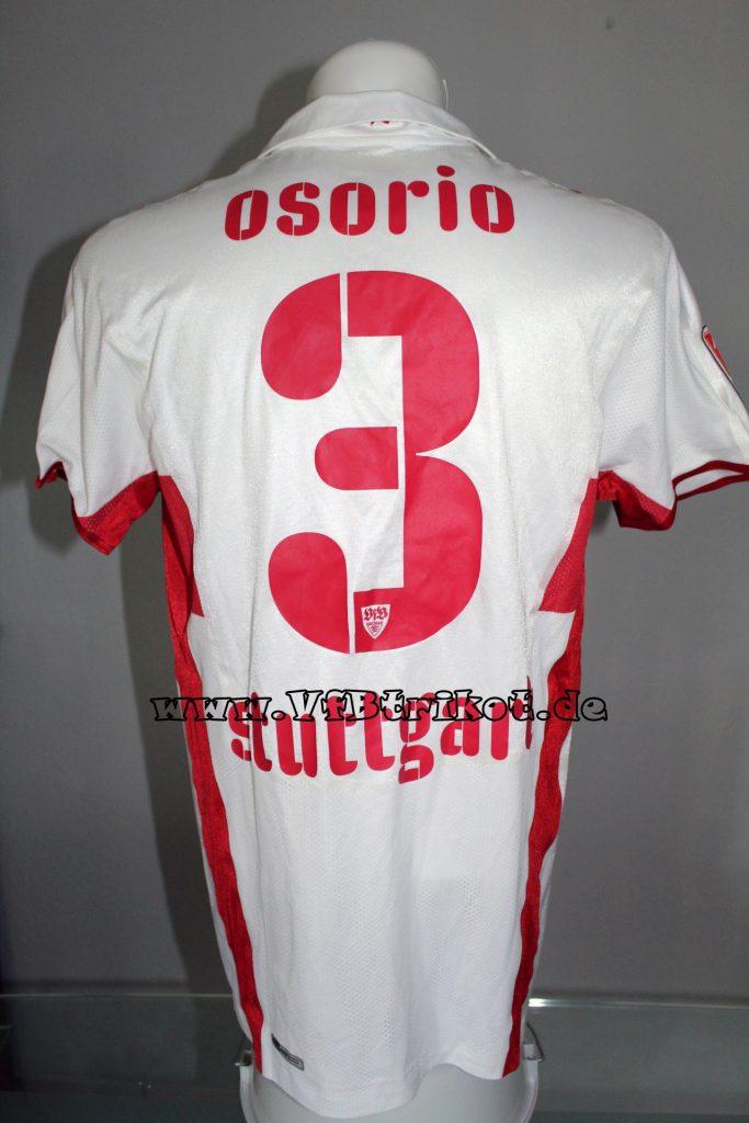 2008/09 - Bundesliga - weiß - kurzarm - Osorio - Sporthilfe Sonderpatch - Bayer Leverkusen - VfB Stuttgart