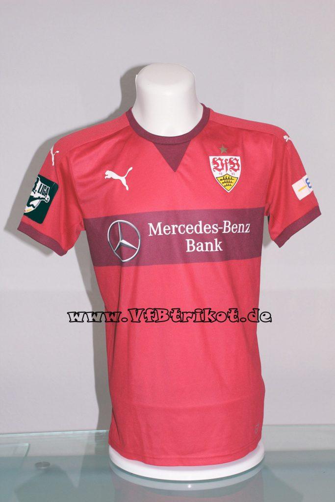 2015/16 - 3.Liga - rot - kurzarm - Mercedes-Benz-Bank - Tobias Rathgeb - Hansa Rostock vs. VfB Stuttgart U21